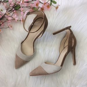 Marc Fisher | Tan Ankle Strap Pointy Heels Size 8